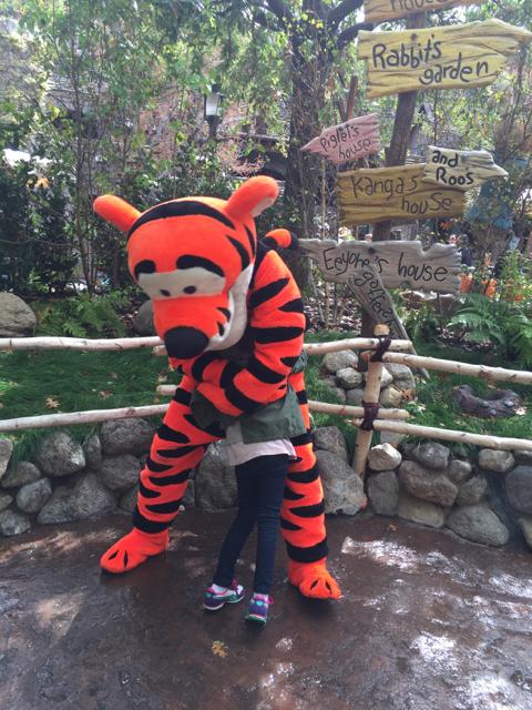 Tiger hugs