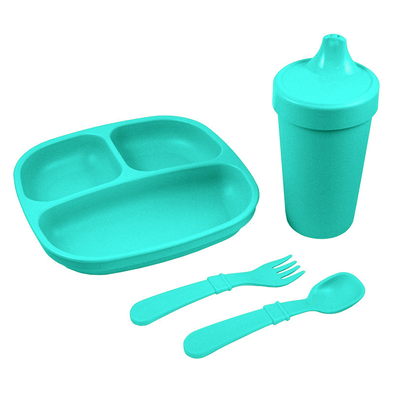 Re-play feeding set