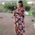 Navy + orange maxi dress giveaway!